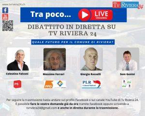 Read more about the article Il Candidato – Dibattito live, comune di Riviera